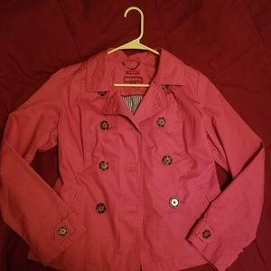 Orange  Peacoat Jacket